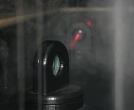 The laser fog station