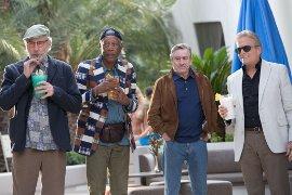 Kevin Kline, Morgan Freeman, Robert De Niro, and Michael Douglas in Last Vegas