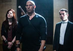 Rose Leslie, Vin Diesel, and Elijah Wood in The Last Witch Hunter