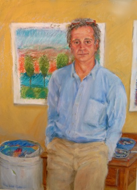 Portrait of Bruce Carter by his wife, Laura Carter. Photo courtesy of the Carter family.