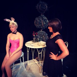 Lauren VanSpeybroeck and Sara Tubbs in Legally Blonde: The Musical