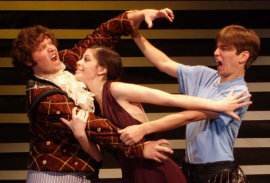 David Herr, Eli Pauley, and Phillip Newman in Lend Me a Tenor