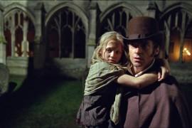 Isabelle Allen and Hugh Jackman in Les Miserables