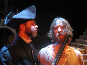 Adam Clough and Don Denton in Les Misérables
