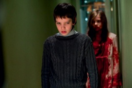 Kodi Smit-McPhee and Chloe Grace Moretz in Let Me In