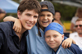Michael Christopher Bolten, Bailee Madison, and Tanner Maguire in Letters to God