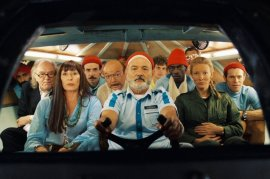 Bill Murray and cast members of The Life Aquatic with Steve Zissou