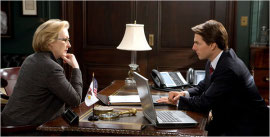 Meryl Streep and Tom Cruise in Lions for Lambs