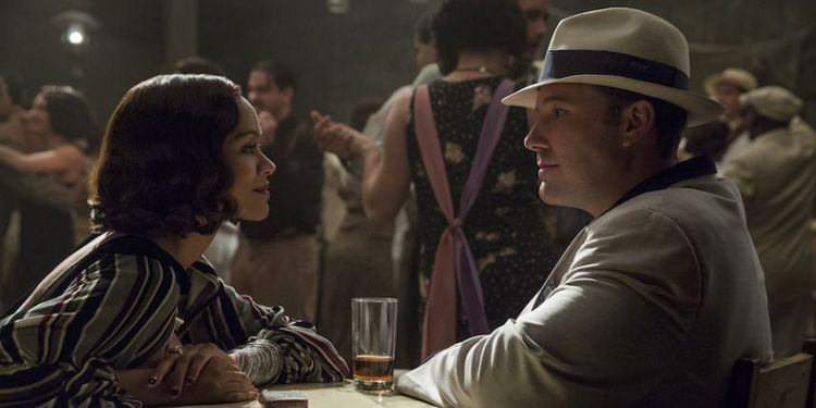 Zoe Saldana and Ben Affleck in Live by Night