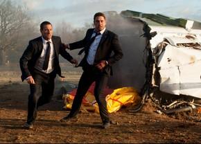Aaron Eckhart and Gerard Butler in London Has Fallen