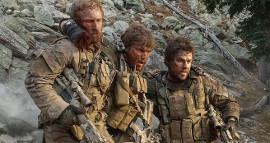Ben Foster, Emile Hirsch, and Mark Wahlberg in Lone Survivor