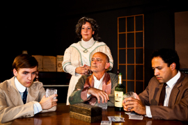 James Bleecker, Jackie Madunic, Ray Gabica, and Jason Platt in Long Day's Journey Into Night