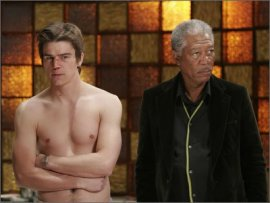 Josh Hartnett and Morgan Freeman in Lucky Number Slevin