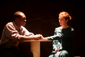 Debo Balogun and Christine Broughton in Machinal