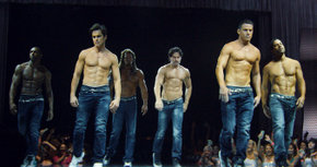 Stephen Boss, Matt Bomer, Kevin Nash, Joe Manganiello, Channing Tatum and Adam Rodriguez in Magic Mike XXL