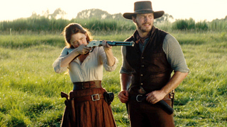 Haley Bennett and Chris Pratt in The Magnificent Seven