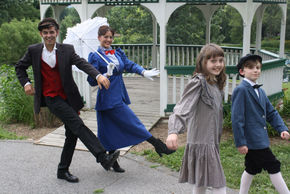 John Whitson, Heather Herkelman, Brennan Hampton, and Ted Brown in Mary Poppins