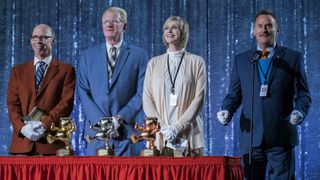 Don Lake, Ed Begley Jr., Jane Lynch, and Michael Hitchcock in Mascots