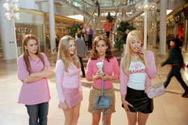 Lindsay Lohan, Amanda Seyfried, Lacey Chabert, and Rachel McAdams in Mean Girls