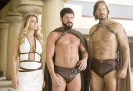 Carmen Electra, Sean Maguire, and Kevin Sorbo in Meet the Spartans