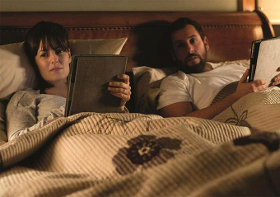 Rosemarie DeWitt and Adam Sandler in Men, Women & Children
