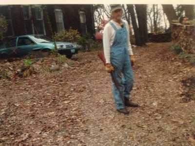 This photo, entered into evidence by the Scott County assistant attorney in the jury trial of Keith Meyer, shows Meyer on his property at 1012 Marquette Street in Davenport.