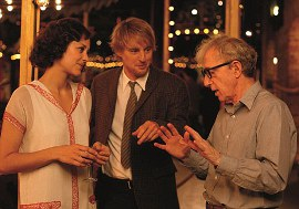 Marion Cotillard, Owen Wilson, and Midnight in Paris director Woody Allen
