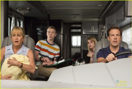 Jennifer Aniston, Will Poulter, Emma Roberts, and Jason Sudeikis in We're the Millers