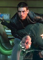 Tom Cruise and Samantha Morton in Minority Report
