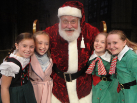 Grace Moore, Laila Haley, John Payonk, Katie Casel, and Krianna Walljasper in Miracle on 34th Street