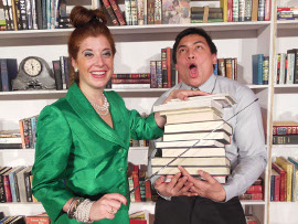 Kateri Demartino and Jonathan Iglesias in Miss Abigail's Guide to Dating, Mating, & Marriage