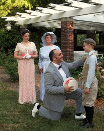 Erika Thomas, Susan Granet, Christopher Thomas, and Spencer Clark in The Music Man