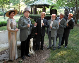 Heidi Pedersen, Scott Tunnicliff, Gary Anderson, Merlin Hill, Greg Golz, and Patrick Downing in The Music Man