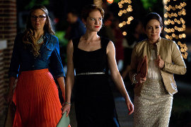 Logan White, Sarah Drew, and Patricia Heaton in Moms' Night Out