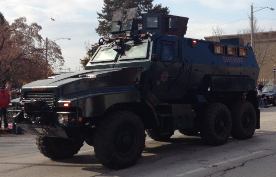 Scott County's Mine Resistant Ambush Protected vehicle