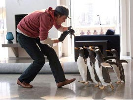 Jim Carrey and friends in Mr. Popper's Penguins