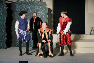 Travis Meier, Jeremy Mahr, Jason Dlouhy, and Tyler Henning in Much Ado About Nothing