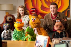 Amy Adams, Jason Segel, and The Muppets