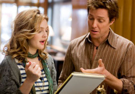 Drew Barrymore and Hugh Grant in Music & Lyrics