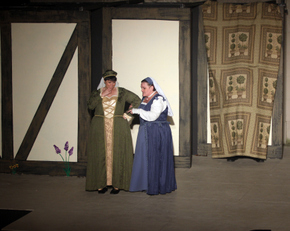 Alaina Pascarella and Mollie Schmelzer in The Mery Wives of Windsor