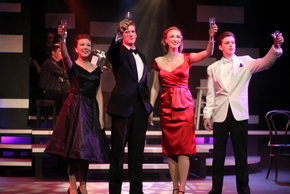Livvy Marcus, Jonathan Young, Bailey Jordan Reeves, and Christian Chambers in My Way: A Musical Tribute to Frank Sinatra