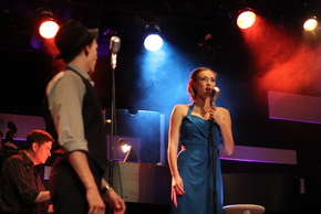 Matt Bean, Jonathan Young, and Bailey Jordan Reeves in My Way: A Musical Tribute to Frank Sinatra