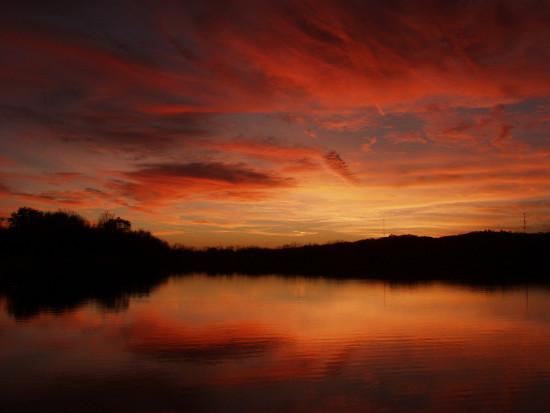A sunset at Nahant Marsh. Photo by Julie Malake.