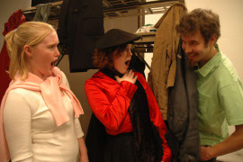 Neil Friberg, with Dana Jarrard and Alysa Grimes, in Death in Character