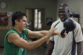 Sean Faris and Djimon Hounsou in Never Back Down
