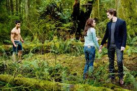Taylor Lautner, Kristen Stewart, and Robert Pattinson in The Twilight Saga: New Moon