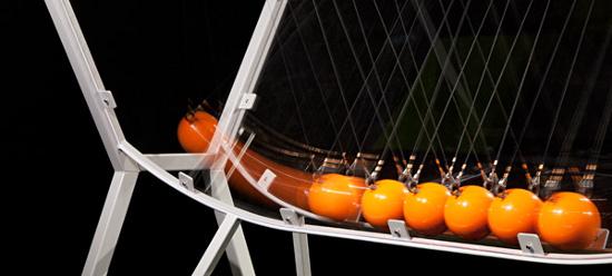 Newton's cradle. Photo by AJ Brown Imaging.