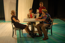 "Augustana ensemble members in ""Nickel and Dimed"""