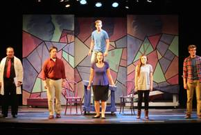Kriss Doss, Aaron Brakefield, Christian Chambers, Daniella Dalli, Livvy Marcus, and Jonathan Young in Next to Normal