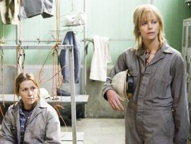 Frances McDormand and Charlize Theron in North Country